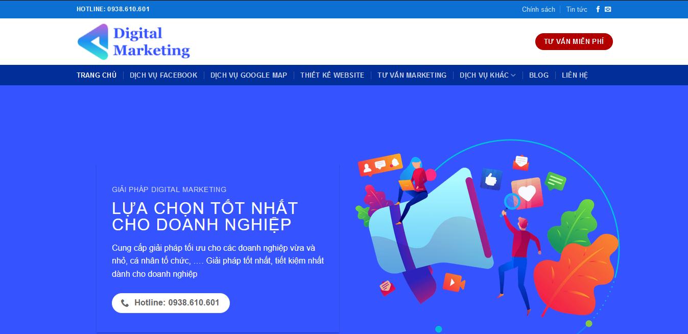 Website doanh nghiệp giaiphapdigitalmarketing.com - Web wp