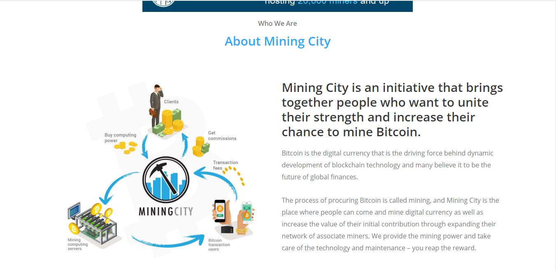 Web affiliate miningcity.global - Web thiếp thị liên kết